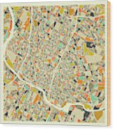 Austin Map 1 Wood Print