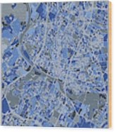 Austin Map Retro 5 Wood Print