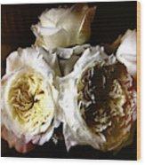 Austin Roses Notan Wood Print