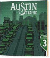 Austin Traffic Wood Print