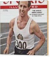 Australia John Landy, 1954 British Empire And Commonwealth Sports Illustrated Cover Wood Print