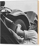 Auto Mechanic Vintage Wood Print