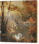Autumn Afterglow Wood Print