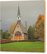 Autumn At Grand Pre Wood Print
