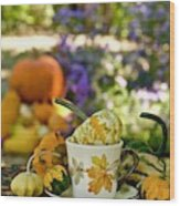 Autumn Delight Wood Print