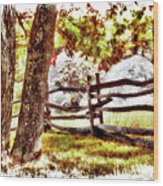 Autumn In Doughton Ap Wood Print
