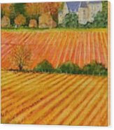 Autumn In French Vineyards Wood Print