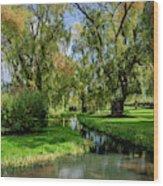 Autumn In Grand-pre Wood Print