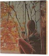 Autumn In Paris Wood Print