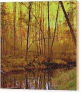 Autumn - Krasna River Wood Print