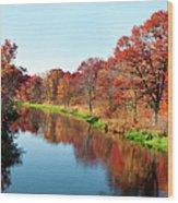 Autumn In Wisconsin Wood Print