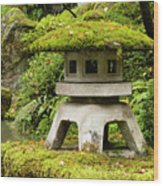 Autumn, Pagoda, Japanese Garden Wood Print