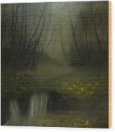 Autumn Twilight Wood Print