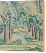 Avenue Of Chestnut Trees At The Jas De Bouffan  Wood Print