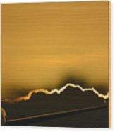 Aviation Sunset Wood Print