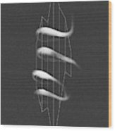 Avidity - Abstract Geometric Line Art Wood Print