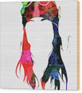 Axl Rose Watercolor Wood Print