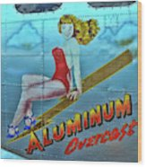 B - 17 Aluminum Overcast Pin-up Wood Print