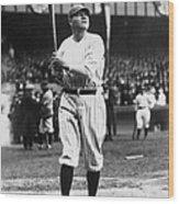 Babe Ruth Batting For Ny Yankees Wood Print