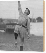 Babe Ruth Catches Fly Ball Wood Print