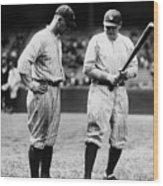 Babe Ruth Lou Gehrig 1923 Wood Print