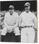 Babe Ruth Lou Gehrig Yankee Stadium Wood Print
