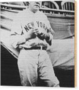Babe Ruth Signing Ball Wood Print