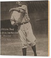 Babe Ruth Special Tour Postcard Wood Print