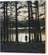 Back To Camp Wood Print