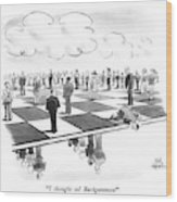 Backgammon Wood Print