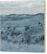 Badlands Cloud Shadows Wood Print