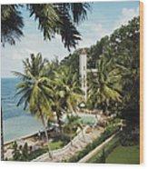 Bahamanian Hotel Wood Print