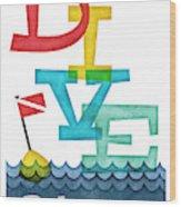 Bahamas Dive - Colorful Scuba Wood Print