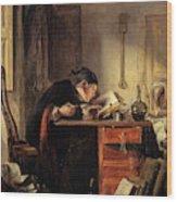 Bailie Duncan Mcwheeble At Breakfast Wood Print