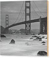 Baker Beach Impressions Wood Print