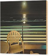 Balcony On The Pacific Oceanside California  Wood Print