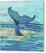 Balene-whales Wood Print