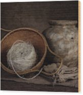 Ball Of Twine Wood Print