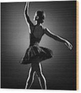 Ballerina Dancing Wood Print