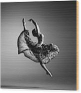 Ballerina Jumping Wood Print
