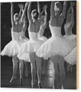 Ballerinas On The Stage Wood Print