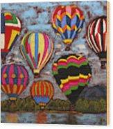 Balloon Family Wood Print