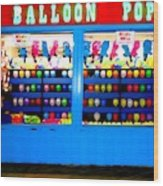 Balloon Pop Wood Print