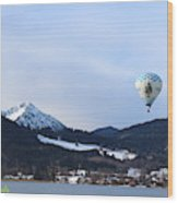 Balloons Over Tegernsee Wood Print