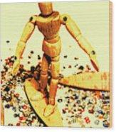 Balsa Boarder 1970 Wood Print