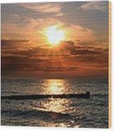 Baltic Sunset Wood Print
