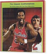 Baltimore Bullets Gus Johnson And New York Knicks Dave Sports Illustrated Cover Wood Print