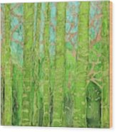 Bamboo Forest Wood Print