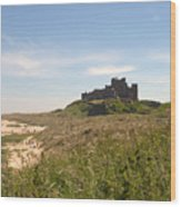 Bamburgh Castle And Beach In Summer Wood Print