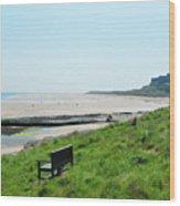 Bamburgh Castle And Beach Wood Print